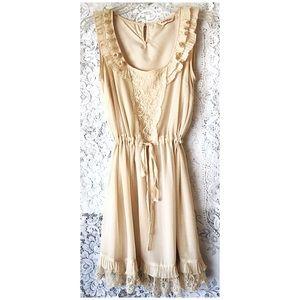 Miss Selfridge Stunning Lace & Ruffle Dress